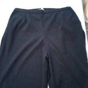JM Collection Woman Size 20W Black Pinstripe Dress